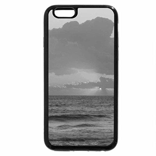 iPhone 6S Plus Case, iPhone 6 Plus Case (Black & White) - Beach sunrise at Outerbanks