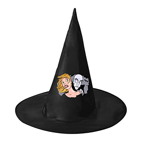 The Vampire DIY Unisex Halloween Toys Witch Hat Black Cap For Women Men (Creative Team Names And Costumes)