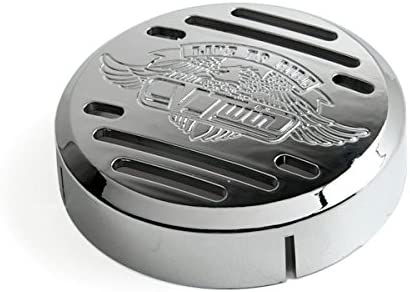 Round Horn Black Live to Ride Eagle Horn Cover For 2000-2003 Kawasaki Vulcan 800