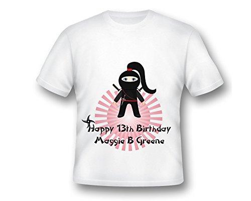Personalized Girl Ninja Shirt, Ninja Birthday, Girls Karate Shirt, Ninja Birthday Shirt, Ninja Girl Birthday Custom Shirt