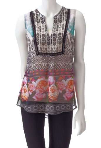 Valerie Stevens Womens Mixed Print Chiffon Top Cami for sale  Delivered anywhere in USA