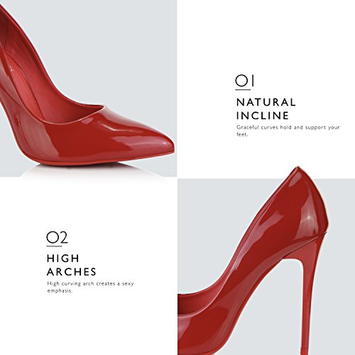 Vestito Punta Pompa Femminile Pt Dell'alto Sottolineato Rosso Dailyshoes Paris Ha Stiletto Tallone 01 Moda Classico wBnW4qWIv