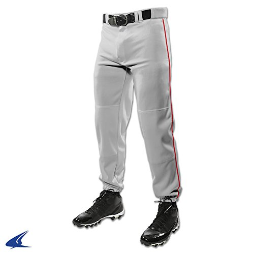 Champro ADT Triple Crown Dugout Pant W / Braid B01I0J5WQY X-Large|グレー/スカーレット グレー/スカーレット X-Large