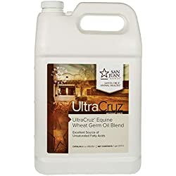 UltraCruz Wheat Germ Oil Blend Supplement for Horses and Livestock, 1 Gallon (125 Day Supply)