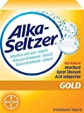 Alka Seltzer Gold - 36 Effervescent Tablets (Pack of 4)
