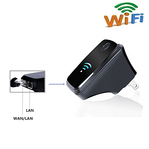 Urant 300m wifi router range extender signal booster - Wireless extender with ethernet ports ...