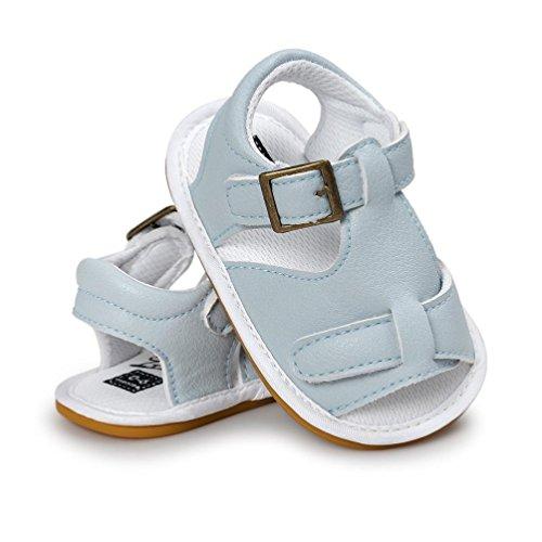 Bebé Zapatos, OverDose Bebé Chicos Sandalias Zapato Casual Zapatillas Antideslizante Soft Sole Toddler Cielo azul