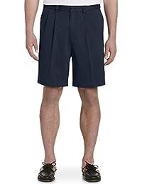 Mens Pleated Shorts   Amazon.com