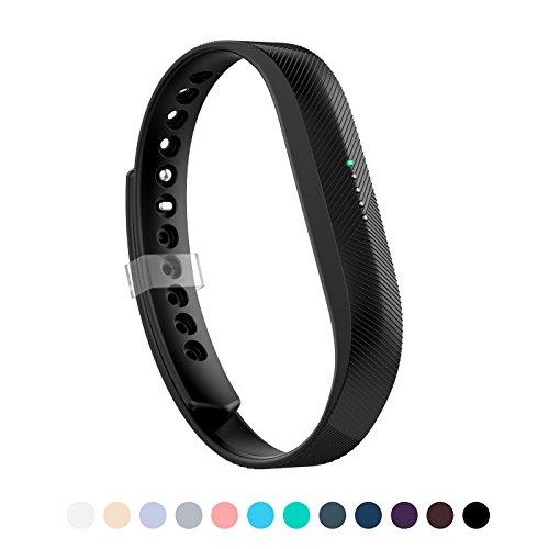 LEEFOX Band for Fitbit Flex 2, Adjustable Fit Bit Flex 2 Accessory Silicon Replacement Wristband w/Fastener Clasp Fitness Strap for Original Flex 2, Black, Large (Psalm 23-3) (Mens Flex Fitbit Wristband)