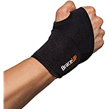 BraceUP® Adjustable Wrist Support, One Size Adjustable (Black), 1 PC