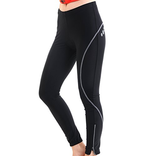4ucycling-Lambda-Womens-Black-Foam-Gel-Padded-SpringSummer-Cycling-Compression-Pants-Tights