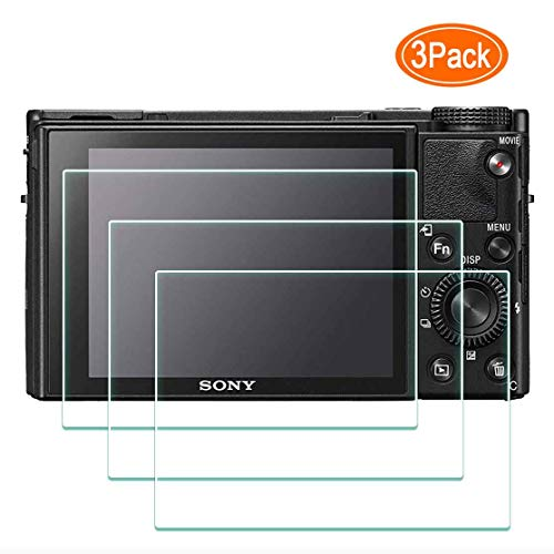 DSC-RX100M7 Screen Protector for Sony RX100 VII Digital Camera,ULBTER 0.3mm 9H Hardness Tempered Glass Cover Anti-Scrach Anti-Fingerprint Anti-Bubble Anti-Water Anti-Dust [3 Pack]