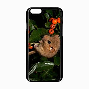 iPhone 6 Black Hardshell Case 4.7inch dormouse mountain ash leaves branches Desin Images Protector Back Cover