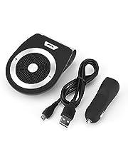 Car Bluetooth-Smart Wireless Bluetooth Hands-Free Car Kit Visor Clip Speakerphone