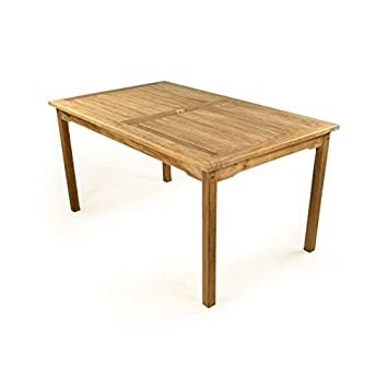 HGG - Mesa de teca para jardín - 6 plazas, madera, mesa de jardín ...