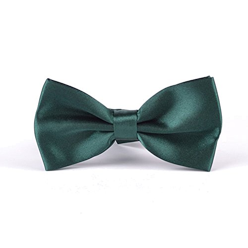 """Adjustable Pre-Tied Tuxedo Bow Tie in a Gift Box, Classic 2.6"""" Pretied Knot, Soft Sateen Polyester Bowtie for Men and Boys, 35 Colors Available, Jungle"""