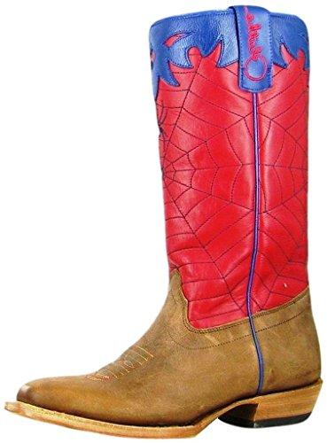 Olathe Western Boots Boys Cowboy Kids Spider Web 6 Youth Tan OKY42