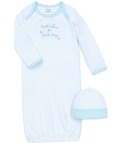 Little Me Baby Boys' Gown and Hat, Thank Heaven, 0-3 Months
