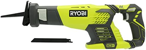 Ryobi P514 18V Cordless One Variable Speed Reciprocating Saw w 2 Blades Batteries Not Included Power Tool Only