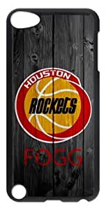 Customizablestyle Houston Rockets Logo with Wood iPod Touch 5 Case Hard Shell(PC Material)