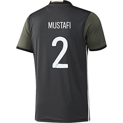 協同ドック子供っぽいAdidas MUSTAFI #2 Germany Away Soccer Jersey Euro 2016(Authentic name and number of player)/サッカーユニフォーム ドイツ アウェイ用 ムスタフィ 背番号2 Euro 2016
