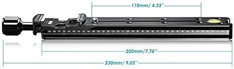 Neewer/® 200/mm Professional Schiene Kamera Slide Metall Quick Release Clamp f/ür Kamera mit Arca Swiss Kompatibel