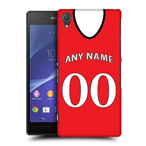 Case Fun Personalised Manchester United Football Shirt, Any Name, Any Number Snap-on Hard Back Case Cover for Sony Xperia Z2 D6502 D6503