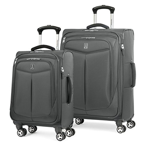Travelpro Inflight 2 Piece (21''/25'') Spinner Luggage Set, Gunmetal Grey by Travelpro