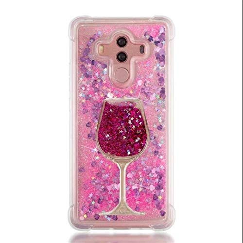 iPod Touch 7/ Touch 6/ Touch 5 Case, Air Cushion Design 3D Goblet Wineglass Liquid Quicksand Bling Floating Moving Shine Glitter Clear TPU Silicone + PC Case for iPod Touch 7th (XRose Rose)