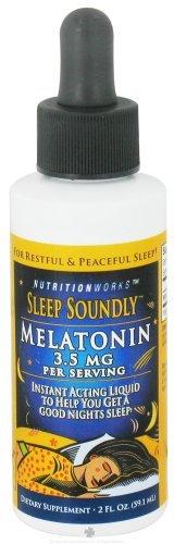 NutritionWorks - Dormez profondément Mélatonine Liquide 3,5 mg. - 2 oz