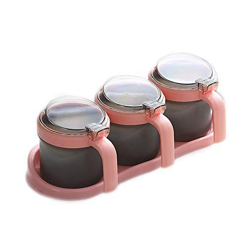 Supplying Box Set, 3 Serving Lepels Antislip Base Luxe Creature Cruet Fles Spice Jar Set TINGG (Color : A)