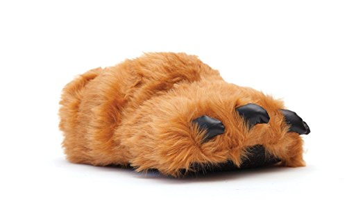Happy Feet 9090-3 - Brown Claw - Large Animal Slippers (House Women Slippers For Bear)