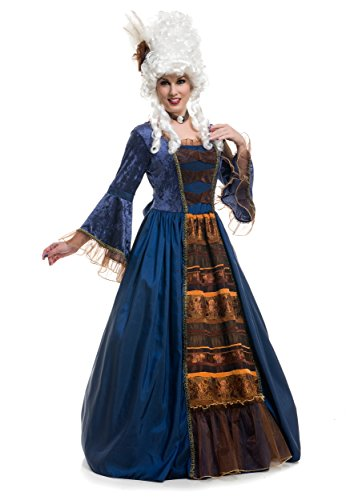 Colonial Ball Gown Costumes (Womens Victorian Ball Gown Deluxe Taffeta Full Length Dress M 8-10)