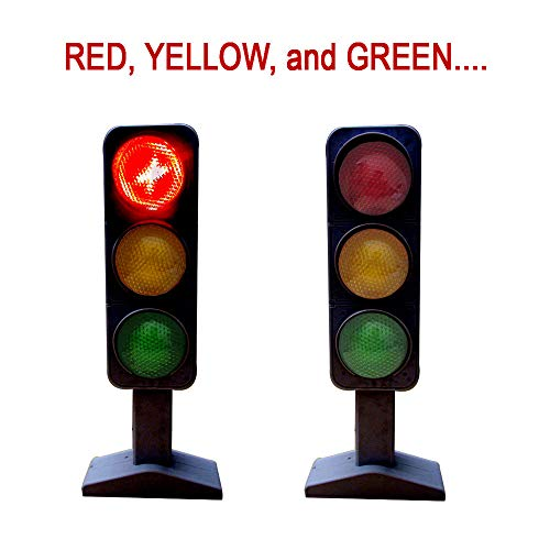 - Toy Cubby Christmas Flashing Traffic Light - Red, Yellow, and Green Realistic Pretend Play Emergency Warning Traffic Lamp.