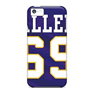 Excellent Cell-phone Hard Cover For Iphone 5c With Provide Private Custom Colorful Minnesota Vikings Pattern IanJoeyPatricia