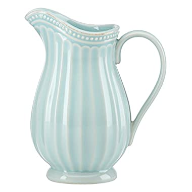 Lenox French Perle Groove Pitcher, Mini, Ice Blue