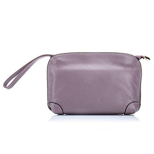 Aladin Small Evening Clutch Purse Bag Leather Wristlet Wallet Cell Phone Handbag