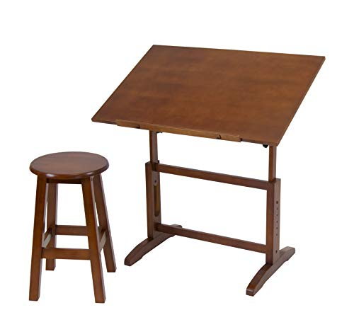- Studio Designs 13257 Creative Table and Stool Set, Walnut