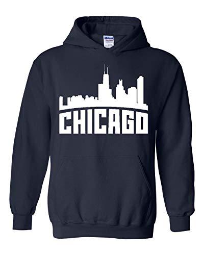 Mom's Favorite Chicago Most Visited US Cities Unisex Hoodie Hooded Sweatshirt (XLNB) Navy Blue ()