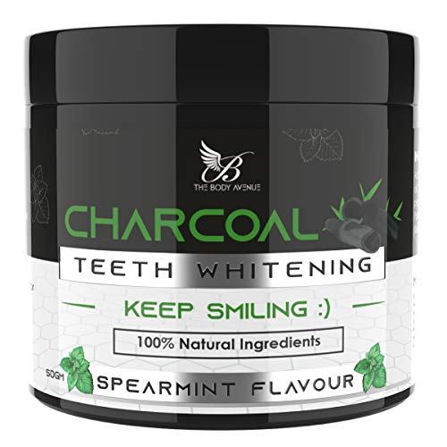 The Body Avenue Activated Charcoal Teeth Whitening Powder for Natural Teeth Whitening, Freshen Breath, Remove Stains…