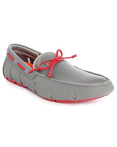 Bateaux Gris et Rouge Braided Lace Loafer pour homme -