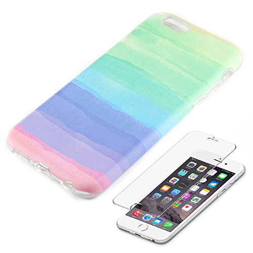 Watercolor Protective Flexible Tempered Protector