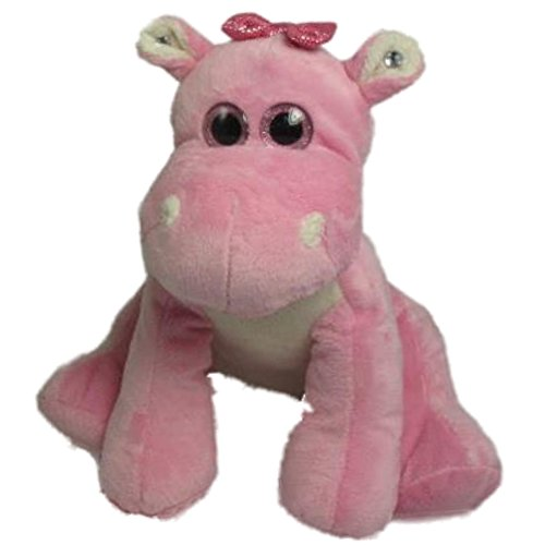 Sitting Hippo Plush Stuffed Toy Pink 10 Inches