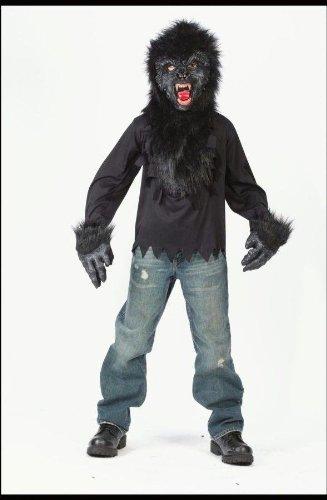 Gorilla Mask Gloves Shirt 7-10 Costume (Gorilla Gloves)
