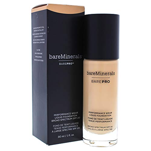 Barepro Performance Wear Liquid Foundation SPF 20 – 14 Silk by bareMinerals for Women – 1 oz Foundation