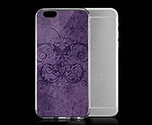 Light weight with strong PC plastic case for iphone 5 5s Art Fantasy & Dragons Purple Damask Butterfly