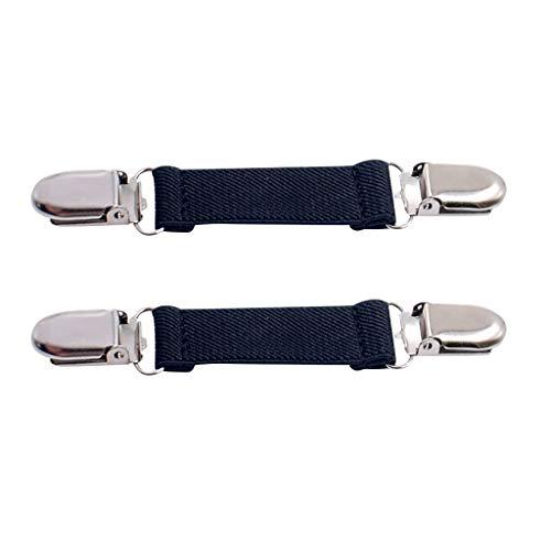 YIYEZI 1 Pair Stainless Steel Mitten Clips Elastic Glove and Mitten Clips for Kids Children Cold Season (C)