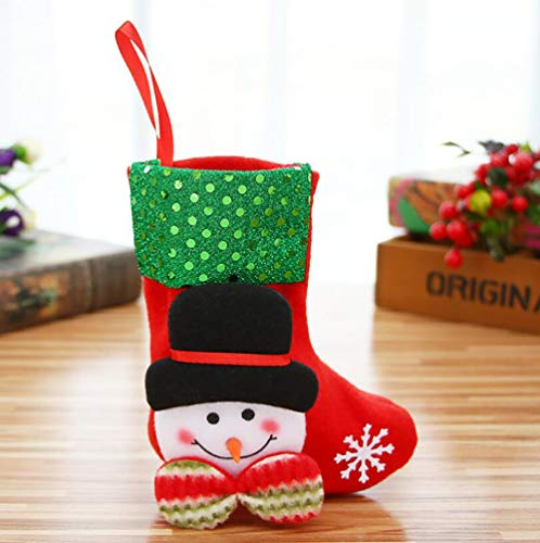 VLUNT 4PCS Calcetines de Navidad Pequeño, 10 x 16cm Calcetines Navideños para Decorar Casa, Media de Navidad Decoración: Amazon.es: Hogar