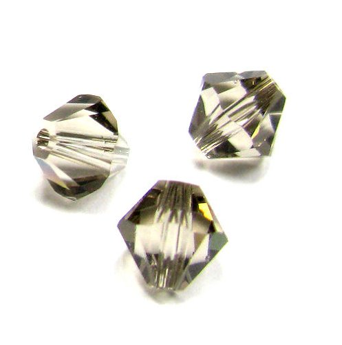 72 pcs Swarovski Crystal 5328 Xilion Bicone Bead Spacer Greige 3mm / Findings / Crystallized Element (Greige Bicone)