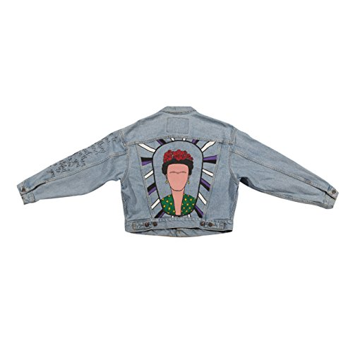 Hand Painted Frida Denim Jacket by Jaymie Leslie